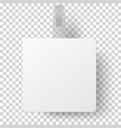 white square self adhesive supermarket shelf vector image vector image