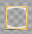 wooden frame with snow vector image vector image