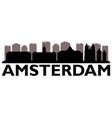 amsterdam skyline on white background vector image