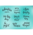 Friendship Family Positive quote lettering set vector image