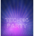 1980 Neon Techno Poster Retro Disco 80s Background vector image vector image