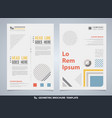 abstract colorful geometric brochure with text vector image vector image