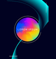 abstract modern gradient geometric shape poster vector image