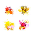 abstract watercolor spots vector image
