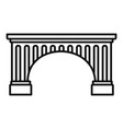 ancient bridge icon outline style vector image vector image