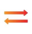Arrow simple sign Orange applique isolated vector image