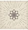 Asian geometric symbol vector image vector image