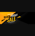 black friday yellow and black abstract sale banner vector image vector image