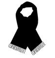 Black scarf vector image