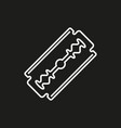 blade razor icon on black vector image