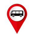 bus icon on a white background vector image vector image