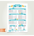 cafe menu for kids template design vector image vector image