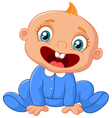 Cartoon happy baby boy vector image vector image