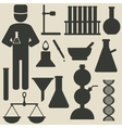 chemistry icons vector image