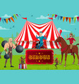 circus show performers and trained animals vector image vector image