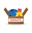 clothes donation support to charity of the people vector image