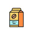 coffee package food packaging flat color vector image
