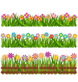 Collection grass and flowers vector image vector image