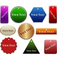 decorative labels collection vector image vector image