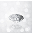 diamond on grey white color bokeh light with vector image