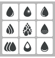drop icons vector image vector image