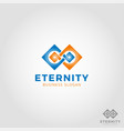 eternity - infinity logo vector image vector image