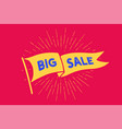 flag big sale old school flag banner with text vector image vector image