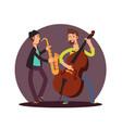 flat classic instrumental duet musicians vector image