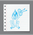 funny cartoon frog vector image