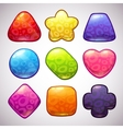 Funny jelly figures vector image vector image