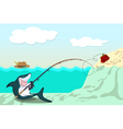 funny shark vector image vector image
