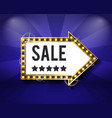 glowing frame with sale and stars promotion vector image