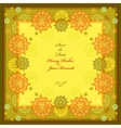 Golden wedding frame with yellow and blue vector image