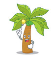have an idea palm tree character cartoon vector image vector image