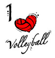 heart volleyball background vector image vector image