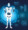 humanoid robot avatar vector image