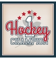 Ice Hockey Badge vector image vector image