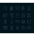 icons set stationery vector image vector image