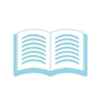 Isolated book symbol vector image vector image