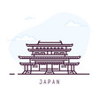japan line city vector image
