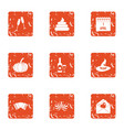 jest icons set grunge style vector image vector image