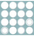 lacy doilies big set vector image