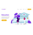 landing page template education concept vector image vector image