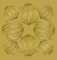 luxurious golden tile with plastic vintage vector image