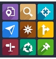 Map GPS and Navigation Flat Icons Set 45 vector image vector image