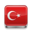 Metal icon of Turkey vector image vector image