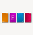 minimalist modern cover collection design dynamic vector image vector image