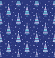 minimalistic xmas seamless pattern perfect vector image vector image