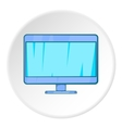 Monitor icon cartoon style vector image vector image