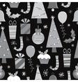 monochrome christmas pattern vector image